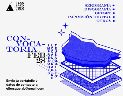 Laboratorio el Bosque - Convocatoria Impresores