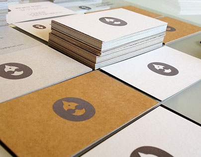 handprinted cards on various papers