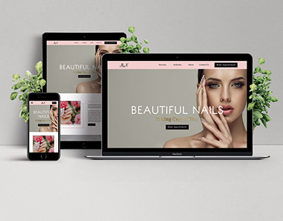 Mercedes Nail Studio Website Mockup