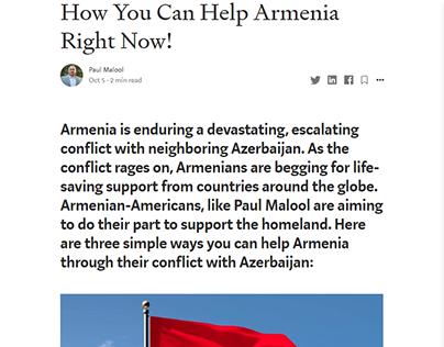 How You Can Help Armenia