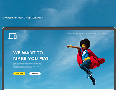 Landing page for a Website Agency