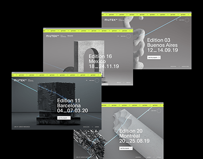 Mutek festival website