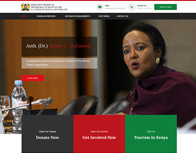 Keniamission. ch - Website redesign