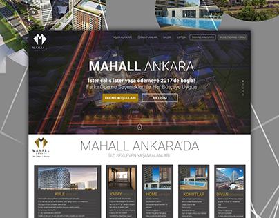 MahallAnkara Landing Page Web Design