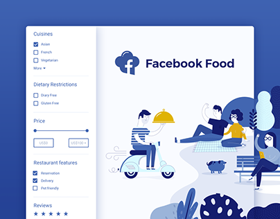 Facebook Food - concept & design