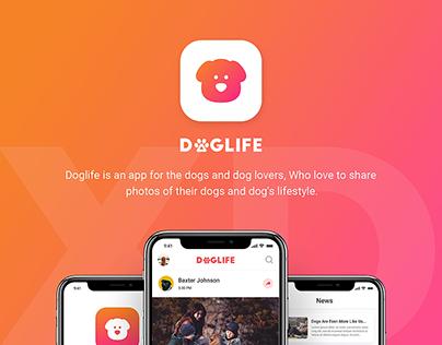 Doglife – A free UI kit