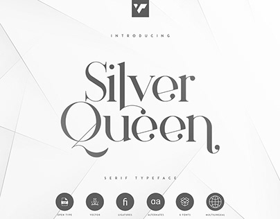 Silver Queen Serif Typeface   Free font download