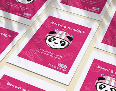Print Ads for Foodpanda during pandemic of COVID