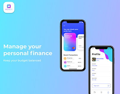 """MONEY"" Mobile Bank App - UI\Ux Design"