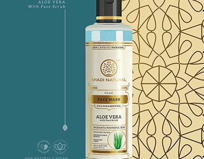 Aloe vera with face scrub Face wash