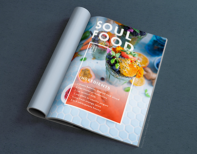 Food Magazine Page | Vector Shapes Assignment