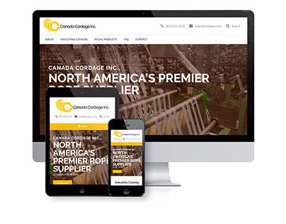 Industrial WordPress Website Design
