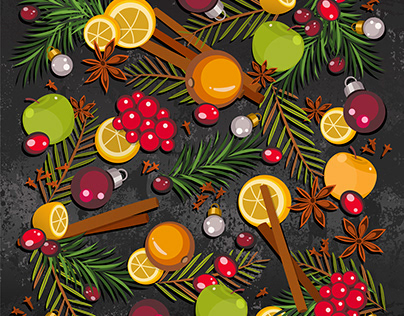 Mulled wine background