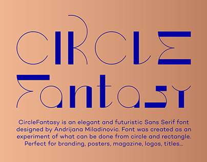 CircleFantasy - Free Futuristic Sans Serif Font
