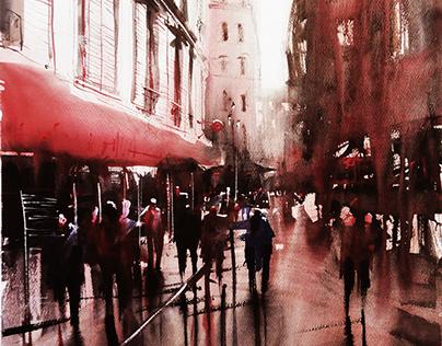 Montmartre Serie (Paris) - Watercolor paintings