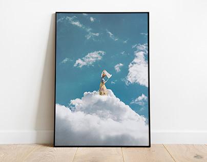 White water - Digital collage.