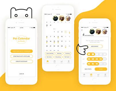 Pet Calendar App Concept