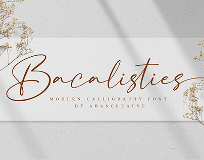 Free Bacalisties Font | Calligraphy Font