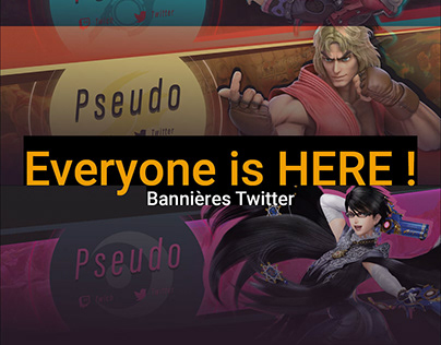 Bannière Twitter Smash : Everyone is HERE