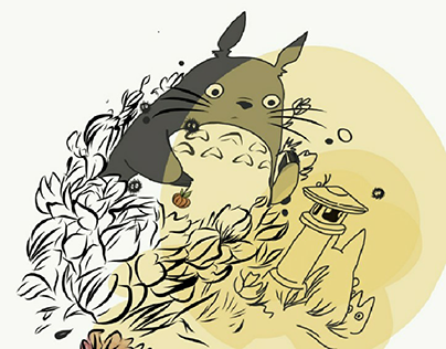 Ilustração digital Totoro