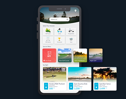 Golf Booking Application Prototype