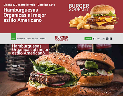 UX/UI Web Design | Burger Gourmet
