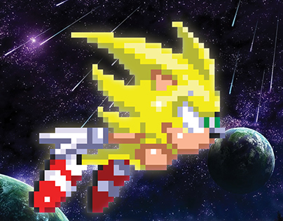 Super Sonic Pixel Art