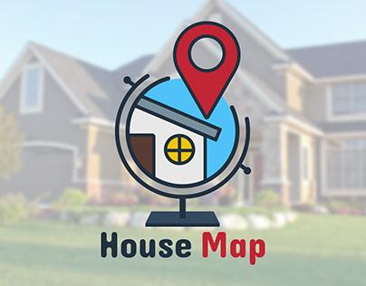 House Map Logo Design