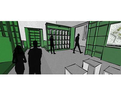 Department's design 2.- interior design