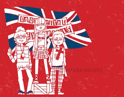Punk fashion illustration