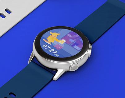 Watchface concept design_A worker's day