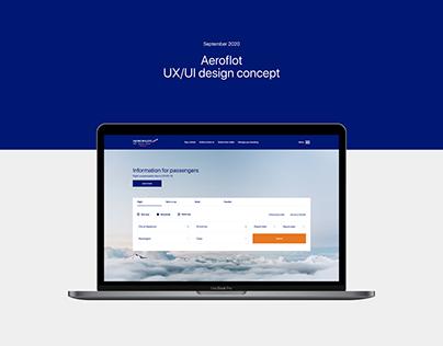 Aeroflot — UX/UI design concept