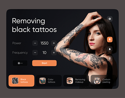 Laser Interface for tattoo removal