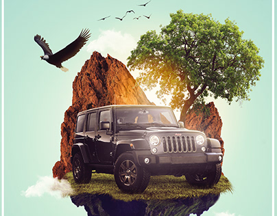 Fictional advertisement for jeep