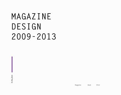 Magazine design 2009-2013