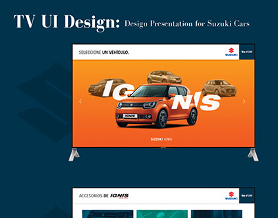 TV Presentation Slides for Suzuki cars