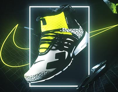 Nike Air Presto Advertisement Design