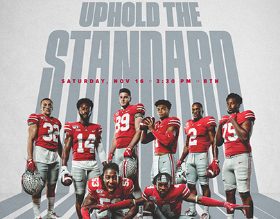 Ohio State Football   Rutgers Gameday Poster