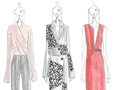 Fashion croquis illustrations