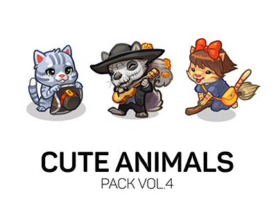 Cute Animals - Spine animations pack vol.4
