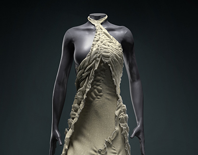 CG Couture - WasteLand 3D Dress 01