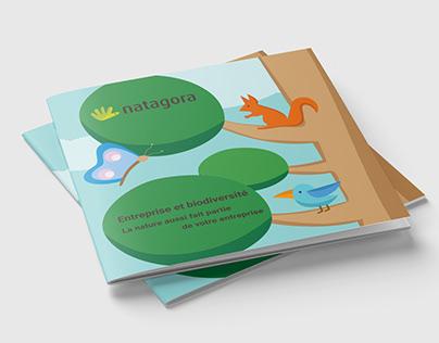 Mise en page et illustrations en flat design
