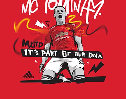 Adidas X Man Utd Kit Launch Print Illustrations