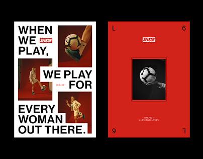 SEASON x IWD2021: Leah Williamson Posters