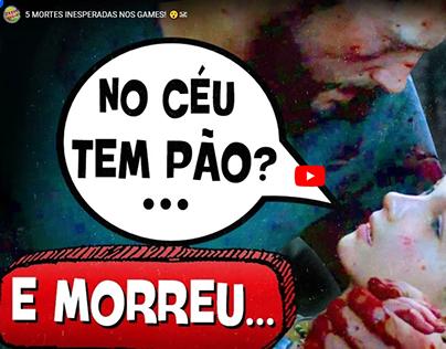 5 MORTES INESPERADAS NOS GAMES! 😮☠