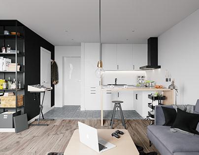 Small apartment interior in Warsaw, Poland № 009