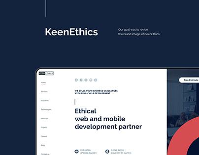 KeenEthics Website Redesign