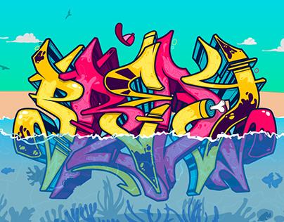 Predy Summer (animated graffiti vector)