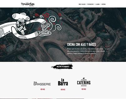 Sitio web de alta gastronomía. España.