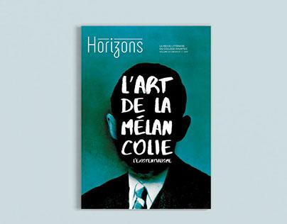 Revue littéraire Horizons - L'art de la mélancolie